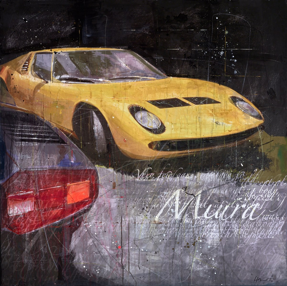 Miura by markus haub -  sized 47x47 inches. Available from Whitewall Galleries